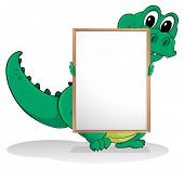 Illustration of a crocodile on a white background