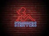 Sexy Stripper de néon