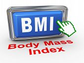 Mão 3D Cursor IMC - índice de massa corporal