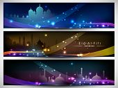 Website header or banner set for Eid Mubarak wishes.