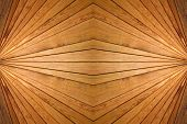 Abstract Symmetrical Wooden Slats Background.