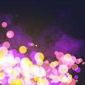 Lights on festive cosmos bokeh background