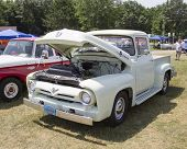 1956 Ford F-100 White Truck