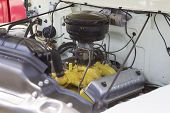 1956 Ford F-100 White Truck Engine
