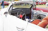 White Studebaker Convertible Interior