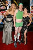 Irina Voronina with Nick Swardson and Cathy Shim at the premiere of