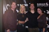 Tom Bishel and Katie Lohmann with Ed Krzyaniak and Miriam Gonzalez co-hosting Playboy Radio on Siriu