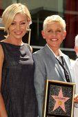 Portia de Rossi, Ellen Degeneres at the Ellen Degeneres Star on the Hollywood Walk of Fame Ceremony, Hollywood, CA 09-04-12