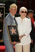 Ellen Degeneres, Betty Degeneres at the Ellen Degeneres Star on the Hollywood Walk of Fame Ceremony, Hollywood, CA 09-04-12