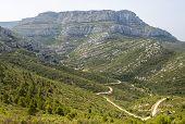 Mountain Landscape Near Marseille