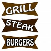 Grill steak and burgers