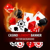 stock photo of texas star  - Vector illustration of casino elements - JPG