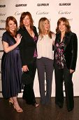 Bryce Dallas Howard and Andrea Buchanan with Jennifer Aniston and Carol Leifer at the Glamour Reel M