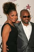 Jermaine Dupri and Janet Jackson at the 9th Annual Benefit for the Lili Claire Foundation. Beverly H