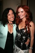 Nina Prommer and Phoebe Price at the birthday party for Phoebe Price. Private Location, Los Angeles,