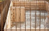 picture of formwork  - formwork for the concrete foundation building site horizontal outdoors - JPG