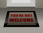 picture of deportation  - Doormat that says - JPG