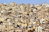 stock photo of jabal  - The crowded jabal al hussein area in Amman - JPG