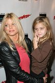 Donna D'Errico and daughter Frankie Jean Sixx at the DVD Release of