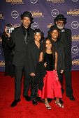 Mario Van Peebles with Melvin Van Peebles and family at the 2006 TNT Black Movie Awards. Wiltern The