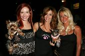 Phoebe Price with Patricia Danieli and Linda Zander of Pawsalove at the first annual Beverly Hills M