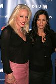 Alexis Arquette and Courteney Cox at the NBC fall party for the hit drama