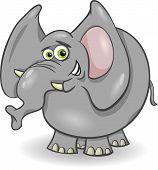 Cute Elephant Cartoon Illustration