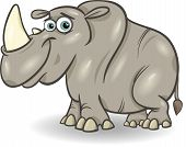 Cute Rhinoceros Cartoon Illustration