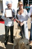 CENTURY CITY - OCTOBER 19: Dick Van Patten and Nicolette Sheridan at the kick off for
