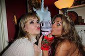 Rena Riffel, Bridgetta Tomarchio at Bridgetta Tomarchio's Birthday Party, Private Location, Los Angeles, CA 12-14-12