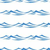 Undulating waves seamless background pattern