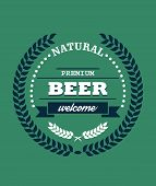 Natural Premium Beer label