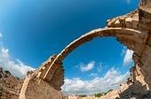 Ruins Of Saranta Kolones Castle. Paphos, Cyprus