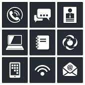 Vector Communication Icons Set