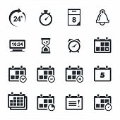 stock photo of numbers counting  - Time icon collection on a white background - JPG