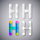 Abstract Vector Combination of Letter H