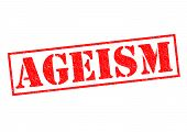 stock photo of stereotype  - AGEISM red Rubber Stamp over a white background - JPG