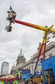 Dublin, Ireland - March 17: Saint Patrick's Day Fair In Dublin, Ireland On March 17, 2014