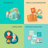 Hotel service composition set