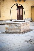 image of wishing-well  - wishing well in a small Italian village - JPG