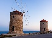 Famous landmark of Rhodes Island Greece