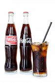 Bangkok, Thailand - July 14, 2014: Cold Classic Coke Botte On A White Background