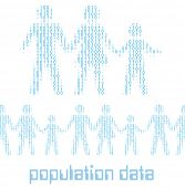 Family people as digital 1 0 data population statistics to tile horizontally