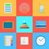 Flat icons for outsource work