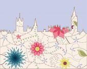 London vintage silouette