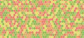Vintage tones hexagonal abstract background