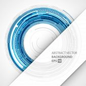 Abstract vector background. Technology circles geometric lines design.
