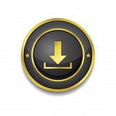 Download Circular Vector Golden Black Web Icon Button