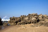 Rough Rock Formation At Umdloti Beach, Durban South Africa