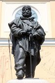 PARMA, ITALY - MAY 01,2014: Giuseppe Garibaldi bronze statue. Parma is famous for its ham, cheese and architecture.It is home to the University of Parma, one of the oldest universities in the world.